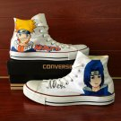 Design Naruto Anime Converse All Star Unisex Hand Painted Shoes High Top Canvas Sneakers