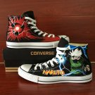Anime Naruto Hatake Kakashi Converse All Star Design Hand Painted Canvas Shoes