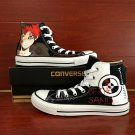Anime Hand Painted Shoes Naruto Sabaku Gaara Converse All Star Canvas Sneakers
