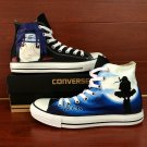 Unisex Anime Converse All Star Design Naruto Uchiha Itach Hand Painted Canvas Shoes