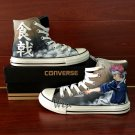 Design Hand Painted Anime Converse Shoes Shokugeki no Soma Canvas Sneakers