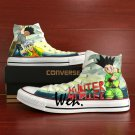 Anime Hand Painted Shoes Hunter X Hunter High Top Converse All Star Canvas Sneakers