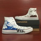 Anime Naruto Kakashi Custom Design Hand Painted Canvas Shoes Unisex White High Top Converse