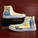 Anime Shoes Custom Design Barakamon Unisex Hand Painted Converse All Star Canvas Sneakers
