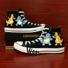 POKEMON Squirtle Dragonite Anime Hand Painted Shoes Men Women's Converse All Star