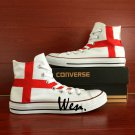 Original England Flag Unisex Hand Painted Shoes Converse All Star High Top Canvas Sneakers
