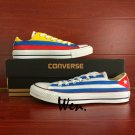 Cuba Columbia Flag Design Hand Painted Shoes Low Top Converse All Star for Men Women