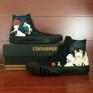 Anime Death Note L.Lawliet Yagami Light Hand Painted Converse Shoes Man Woman Canvas Sneakers