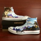 Anime Converse All Star Shoes Men Women Hand Painted Canvas Sneakers Design Anime JoJo's Bizarre