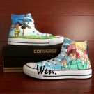 Unisex Converse All Star Anime Howl's Moving Castle Hand Painted Canvas Shoes High Top Sneakers