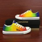 Original Design Colorful Gradient Change Hand Painted Shoes Low Top Converse All Star