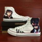 Design Anime Converse All Star Tokyo Ghouls Hand Painted Shoes Unisex Canvas Sneakers