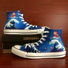 Custom Design Hand Painted Canvas Shoes Anime Ponyo on the Cliff Converse Sneakers