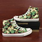 Army Camouflage Pattern Custom Design Canvas Shoes Hand Painted Converse All Star