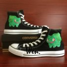 Pokemon Shoes Hand Painted Bulbasaur Anime Converse All Star Man Woman Canvas Sneakers