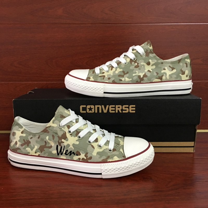 Low Top Hand Painted Shoes Design Special Forces Camouflage Converse All Star