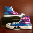 Original Galaxy Colorful Nebular Stars Design Hand Painted Canvas Shoes Unisex Converse