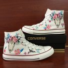 Original Design Indian Style Ox Bone Totem Floral Hand Painted Converse Shoes Canvas Sneakers