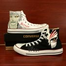 Unisex Canvas Sneakers Design Anime Bleach Hand Painted Shoes High Top Converse All Star