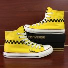Taxi Door Mark Original Design Hand Painted Canvas Shoes Converse All Star Sneakers