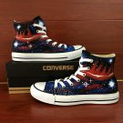 Original Design Hand Painted Shoes Galaxy Nebular Converse All Star High Top Canvas Sneakers