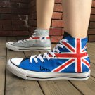 Man Woman's Converse Custom Design UK British Flag Hand Painted Canvas Sneakers