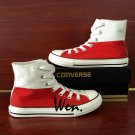Hand Painted Shoes Poland Flag Converse All Star Men Canvas Sneakers High All Stars