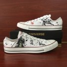 Low-Cut Converse Shoes Anime Gintama Hand Painted Canvas Sneakers Unisex All Star