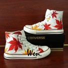 Maple Leaf Canvas Shoes Design Hand Painted Converse Sneakers Men Women All Star