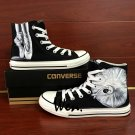 Hand Painted Shoes Ballet Dancer Sneakers Canvas Converse All Star Black Classic Fashion Shoes