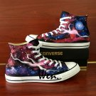 Galaxy Shoes Hand Painted Nebula Space Sneakers Men Women Canvas Converse All Star High Tops