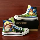 Canvas Sneakers Men Women Hand Painted Shoes Anime My Neighbor Totoro Converse All Star