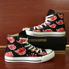 Anime Converse All Star Shoes Naruto Akatsuki Hand Painted Canvas Sneakers