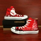Hand Painted Shoes Gifts Merry Christmas Design Converse All Star Canvas Sneakers