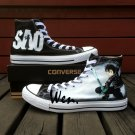 Men Women Hand Painted Shoes Anime Sword Art Online Converse All Star Canvas Sneakers