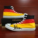 Original Design Converse Hand Painted Shoes Germany Flag Canvas Sneakers All Star