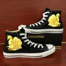 Hand Painted Shoes Men Women Anime Pokemon Ninetales Canvas Sneakers Converse
