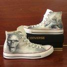 Original Design Skull Shoes Hand Painted Converse Men Women High Top Canvas Sneakers