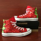 Strawberry Hand Painted Shoes Original Design Fruit Painting Converse Chuck Canvas Sneakers