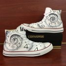 Unisex Canvas Shoes Converse Design Time Clock Hand Painted All Star Chuck Sneakers