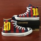 Sport Shoes Converse Design Soccer Jersey Football Number 10 Hand Painted Sneakers