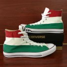 Converse Design Hungary Flag Shoes Hand Painted Canvas Shoes Chuck Sneakers
