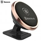 Mini magnetic stand strong suction car mount for mobile phones Brand Baseus Rose gold