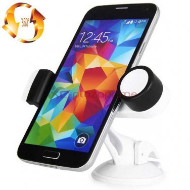 Clip smartphone support for rotary drive 360 degrees JHD 04HD67 - White