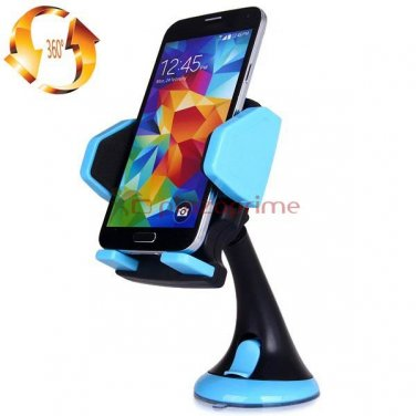 Holder car holder for smartphones adjustable suction and rotating 360 degrees JHD 12HD58 Celeste