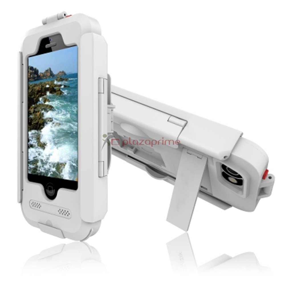 Bike Holder Case for iPhone 6/6S is luxury armor silicone waterproof and shockproof. White