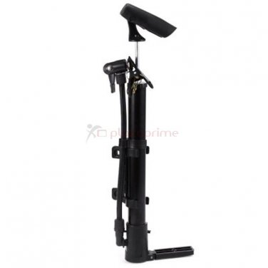 Portable air pump high pressure hand bicycle tire inflator Black