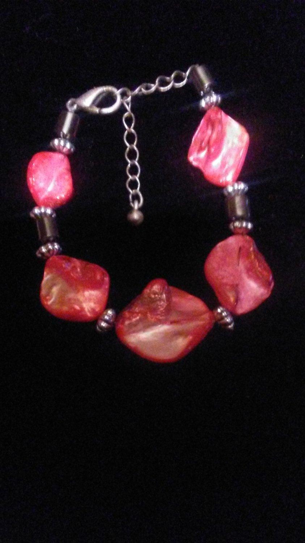 Hot Pink Shell Bracelet