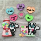 "Paper Pieced Die Cut ""Sweet Heart Skunk"" 8 pce.Embellishment Set"