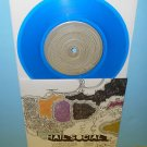 "HAIL SOCIAL warning sign , objects in mirror 7"" Record BLUE Vinyl"